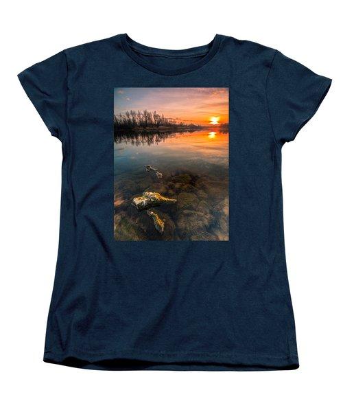 Watching Sunset Women's T-Shirt (Standard Cut) by Davorin Mance