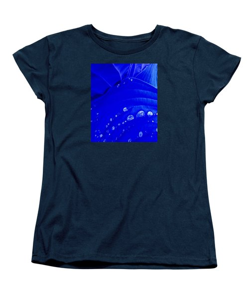Women's T-Shirt (Standard Cut) featuring the photograph Water Droplets  by Carolyn Repka