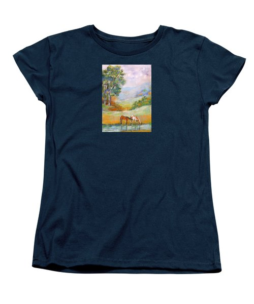 Water Hole Women's T-Shirt (Standard Cut) by Mary Armstrong