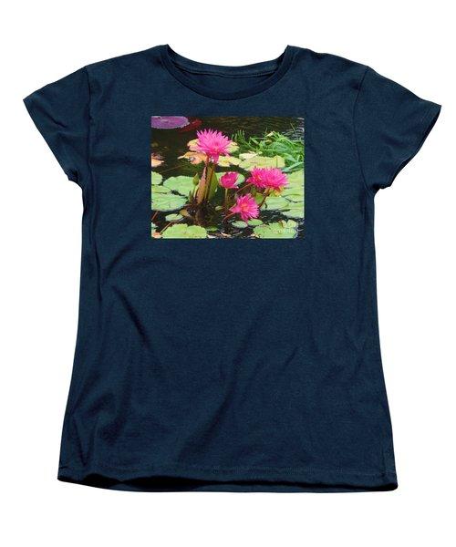 Water Lilies 008 Women's T-Shirt (Standard Cut) by Robert ONeil