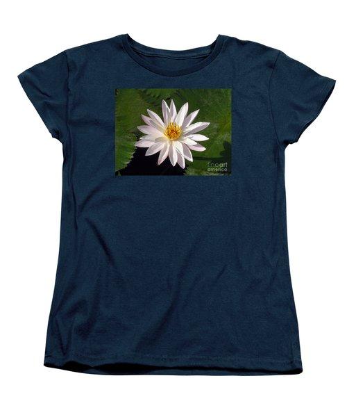 Water Lily Women's T-Shirt (Standard Cut) by Sergey Lukashin