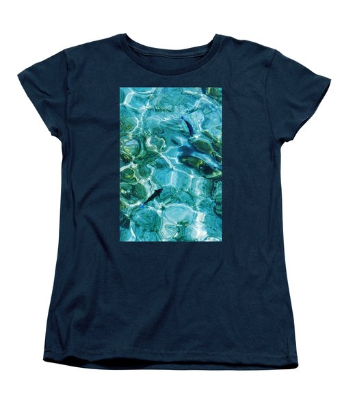 Water Meditation II. Five Elements. Healing With Feng Shui And Color Therapy In Interior Design Women's T-Shirt (Standard Cut) by Jenny Rainbow