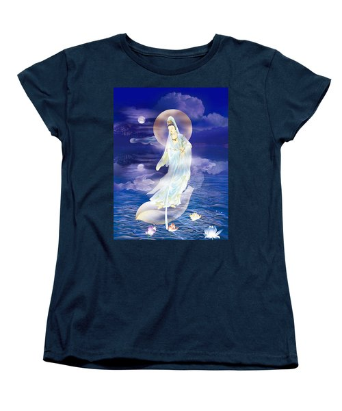 Water Moon Avalokitesvara  Women's T-Shirt (Standard Cut) by Lanjee Chee