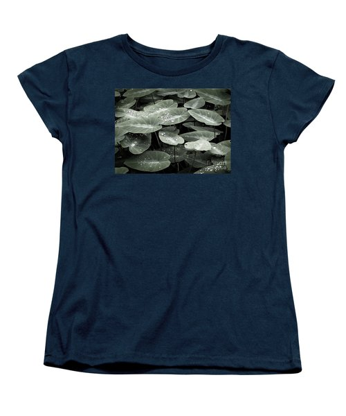 Women's T-Shirt (Standard Cut) featuring the photograph Water On Ivy by Ellen Cotton