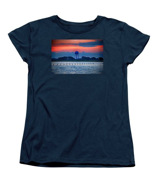 Water Tower Women's T-Shirt (Standard Cut) by Michael Thomas