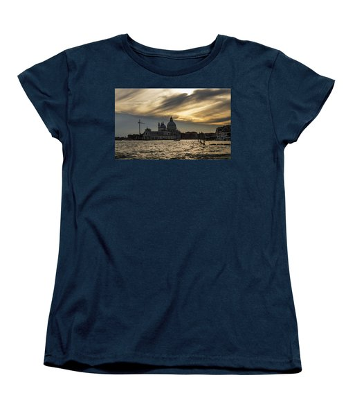 Women's T-Shirt (Standard Cut) featuring the photograph Watercolor Sky Over Venice Italy by Georgia Mizuleva