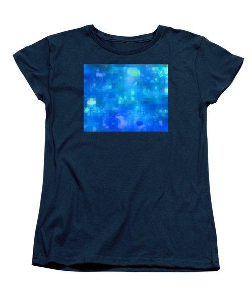 Women's T-Shirt (Standard Cut) featuring the painting Waterfall by David Mckinney