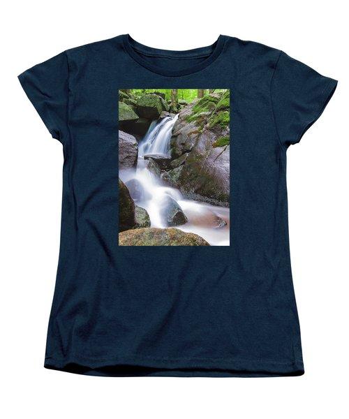 Waterfall Women's T-Shirt (Standard Cut) by Eduard Moldoveanu