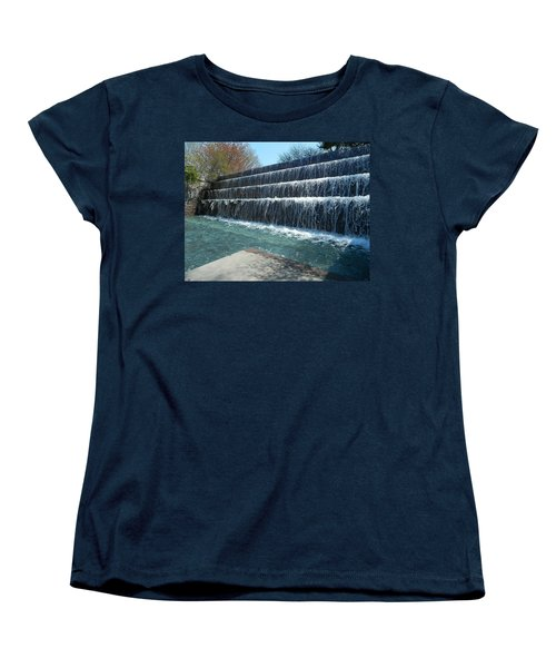 Women's T-Shirt (Standard Cut) featuring the photograph Waterfall Heaven by Emmy Marie Vickers