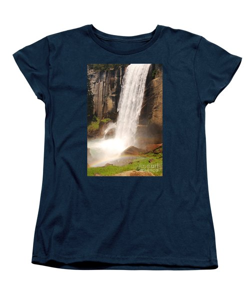 Women's T-Shirt (Standard Cut) featuring the photograph Waterfall Rainbow by Mary Carol Story