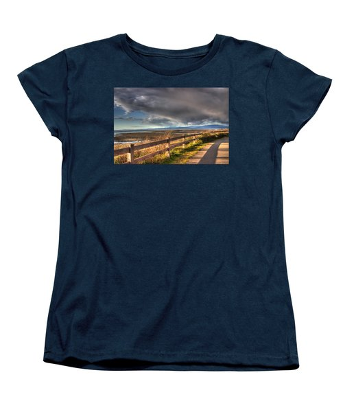 Waterfront Walkway Women's T-Shirt (Standard Cut) by Randy Hall