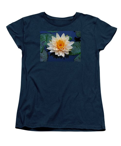 Women's T-Shirt (Standard Cut) featuring the photograph Waterlily After A Shower by Raymond Salani III
