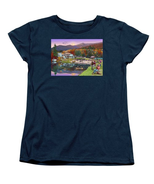 Waterville Estates In Autumn Women's T-Shirt (Standard Cut) by Nancy Griswold