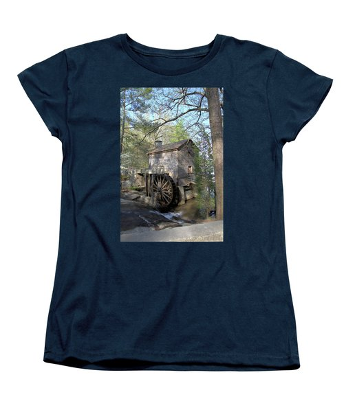 Women's T-Shirt (Standard Cut) featuring the photograph Waterwheel At Stone Mountain by Gordon Elwell