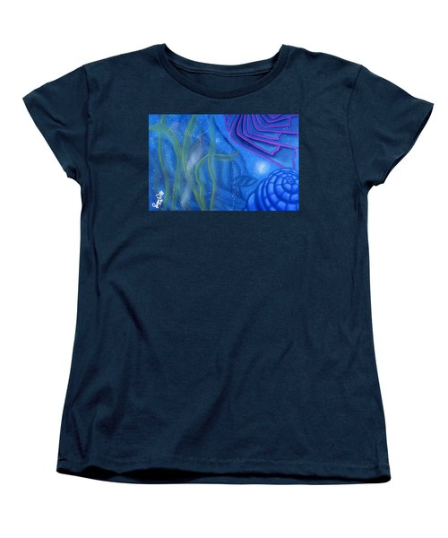 Watery Women's T-Shirt (Standard Cut) by Susan Will