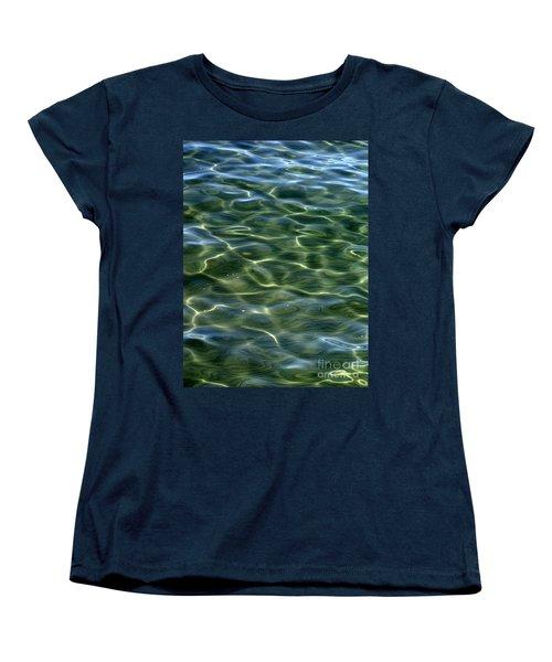 Waves On Lake Tahoe Women's T-Shirt (Standard Cut)