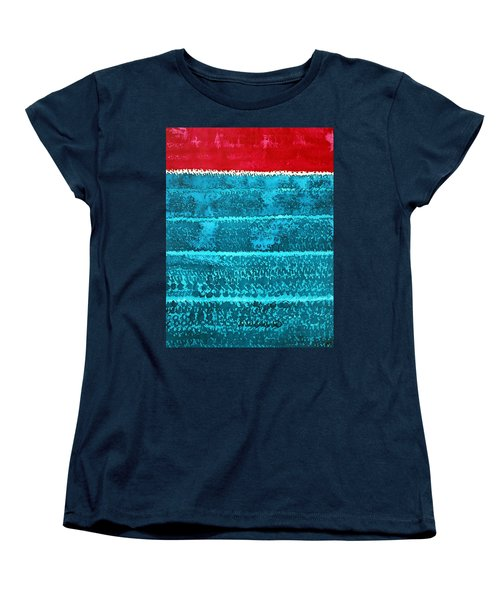 Waves Original Painting Women's T-Shirt (Standard Cut) by Sol Luckman
