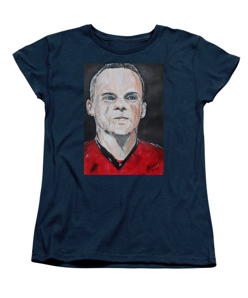 Wayne Rooney Women's T-Shirt (Standard Cut) by John Halliday