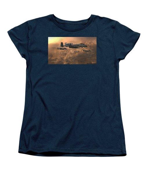 Waypoint Alpha Women's T-Shirt (Standard Cut) by Dave Luebbert