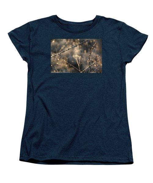 Women's T-Shirt (Standard Cut) featuring the photograph web by David S Reynolds