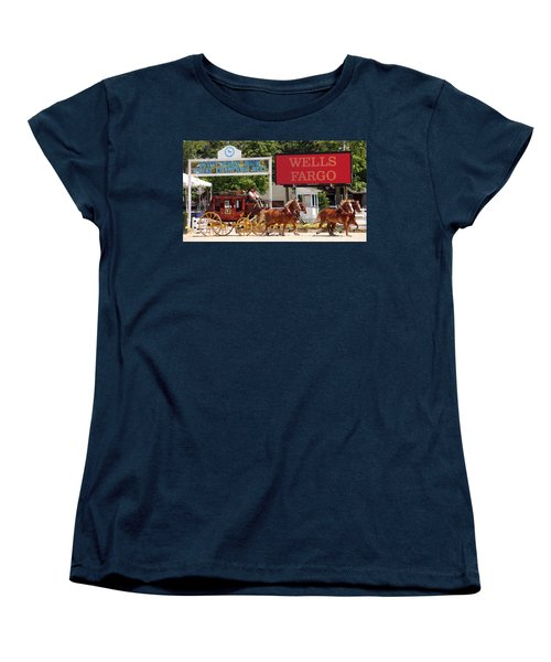 Women's T-Shirt (Standard Cut) featuring the photograph Wells Fargo At Devon by Alice Gipson