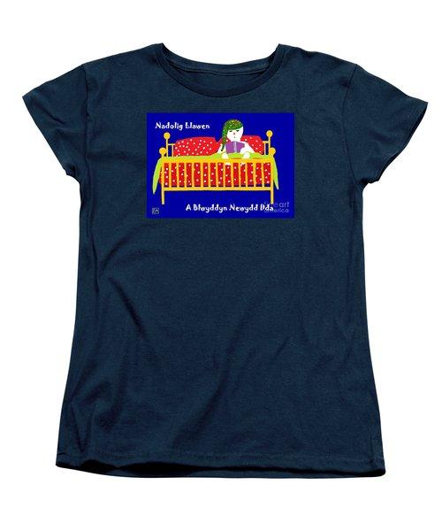 Welsh Snowman Bedtime  Women's T-Shirt (Standard Cut) by Barbara Moignard