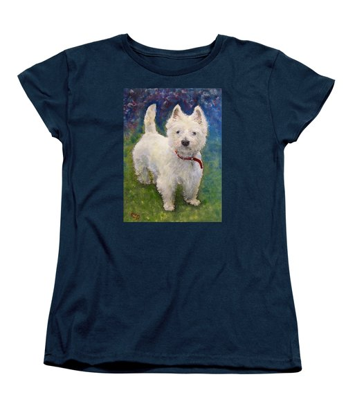 West Highland Terrier Holly Women's T-Shirt (Standard Cut) by Richard James Digance