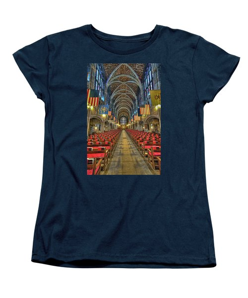 West Point Cadet Chapel Women's T-Shirt (Standard Cut) by Dan McManus