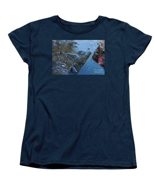 Women's T-Shirt (Standard Cut) featuring the photograph Wet Car by Randi Grace Nilsberg