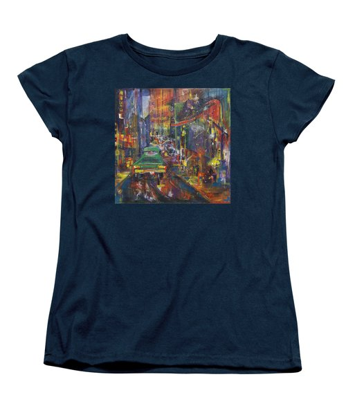 Wet China Lights Women's T-Shirt (Standard Cut) by Leela Payne