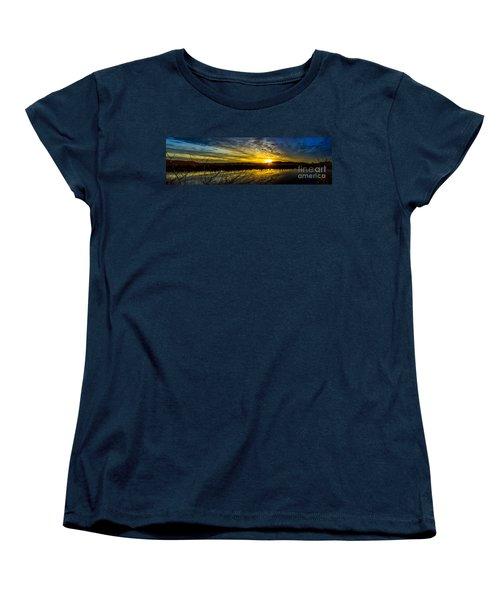 Wetlands Sunset Women's T-Shirt (Standard Cut) by Michael Cross