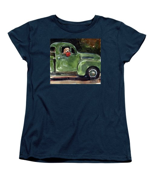 Women's T-Shirt (Standard Cut) featuring the painting Wham-o by Molly Poole