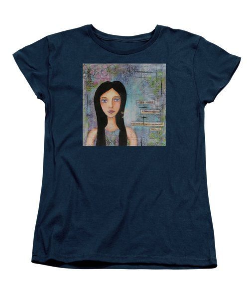 Women's T-Shirt (Standard Cut) featuring the painting What Is A Friend # 2 by Nicole Nadeau