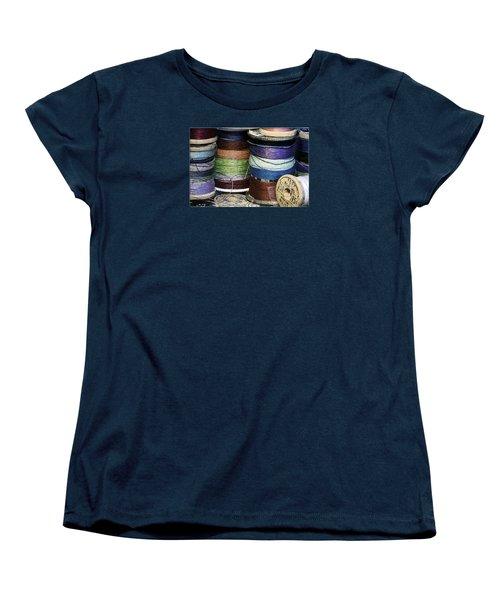 Spools Of Thread Women's T-Shirt (Standard Cut) by Jean OKeeffe Macro Abundance Art