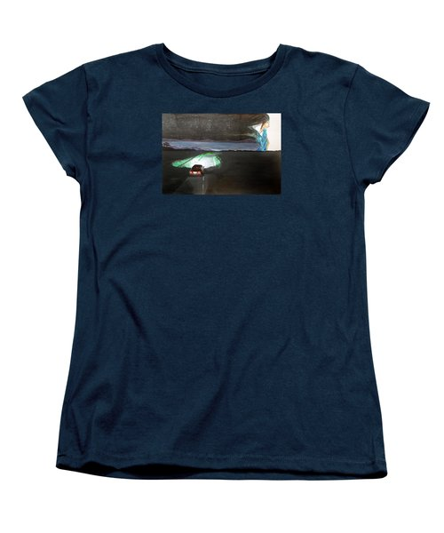 When The Night Start To Walk Listen With Music Of The Description Box Women's T-Shirt (Standard Cut) by Lazaro Hurtado