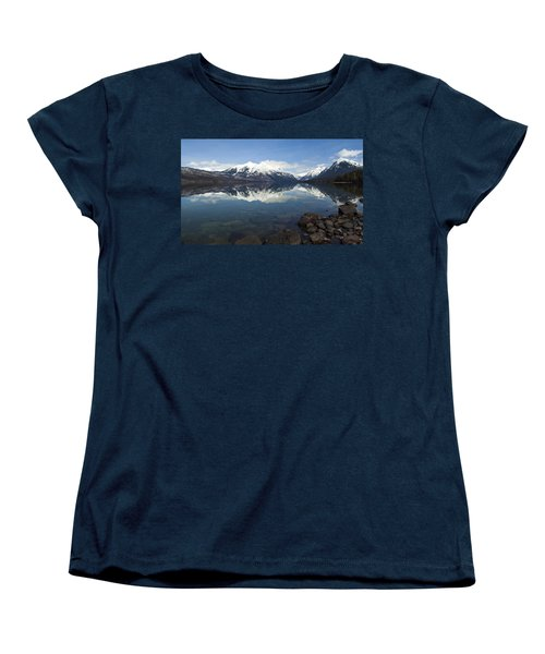 When The Sun Shines On Glacier National Park Women's T-Shirt (Standard Cut) by Fran Riley