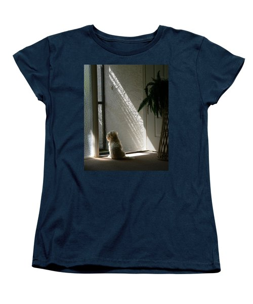 Where's Dad Women's T-Shirt (Standard Cut) by Rosalie Scanlon