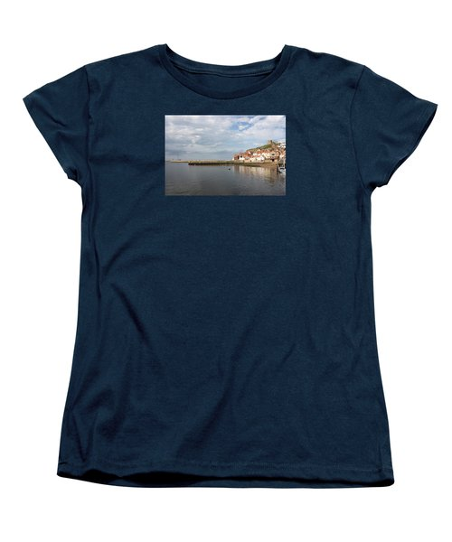 Women's T-Shirt (Standard Cut) featuring the photograph Whitby Abbey N.e Yorkshire by Jean Walker