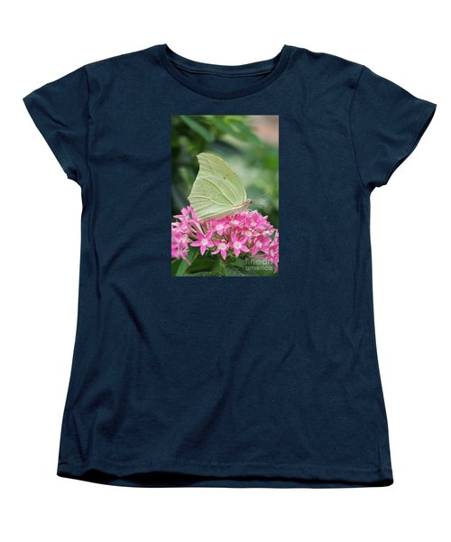 Women's T-Shirt (Standard Cut) featuring the photograph White Angled Sulphur by Judy Whitton