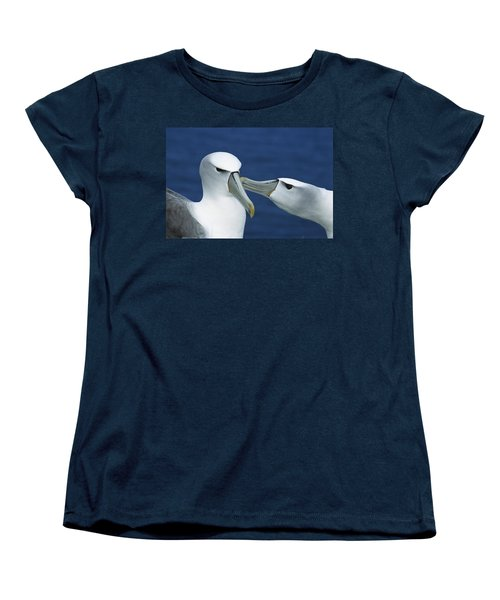 White-capped Albatrosses Courting Women's T-Shirt (Standard Cut) by Tui De Roy