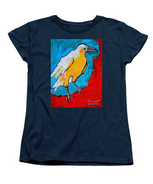 Women's T-Shirt (Standard Cut) featuring the painting White Crow by Ana Maria Edulescu