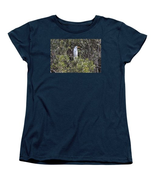 White Egret In The Swamp Women's T-Shirt (Standard Cut) by Christiane Schulze Art And Photography