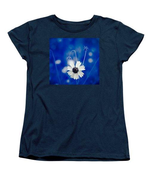 White Flower Women's T-Shirt (Standard Cut) by Darryl Dalton