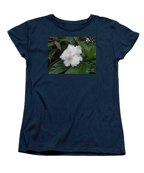 White Flower Women's T-Shirt (Standard Cut) by Sergey Lukashin
