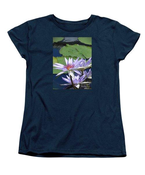 Women's T-Shirt (Standard Cut) featuring the photograph White Lilies by Chrisann Ellis