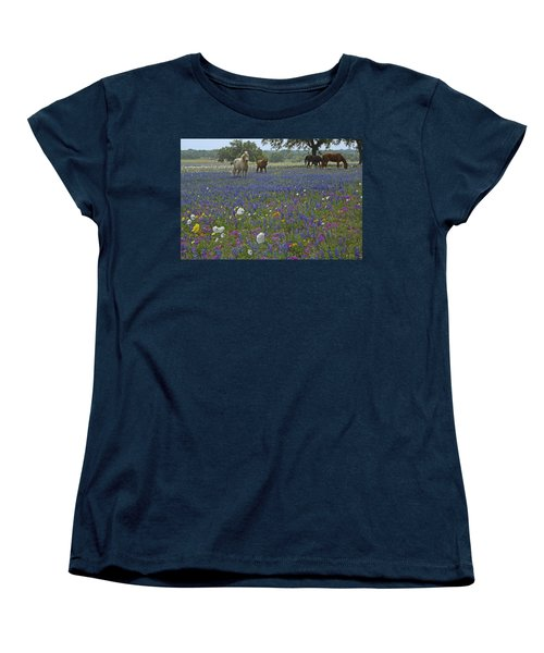 Women's T-Shirt (Standard Cut) featuring the photograph White On Blue by Susan Rovira