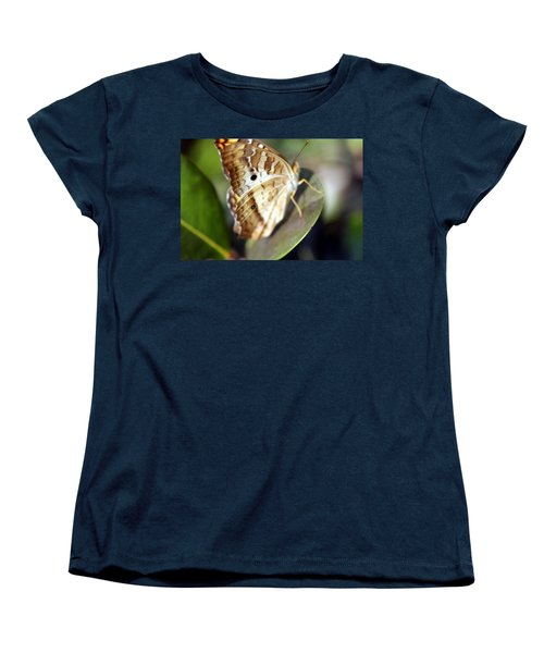Women's T-Shirt (Standard Cut) featuring the photograph White Peacock Butterfly by Greg Allore