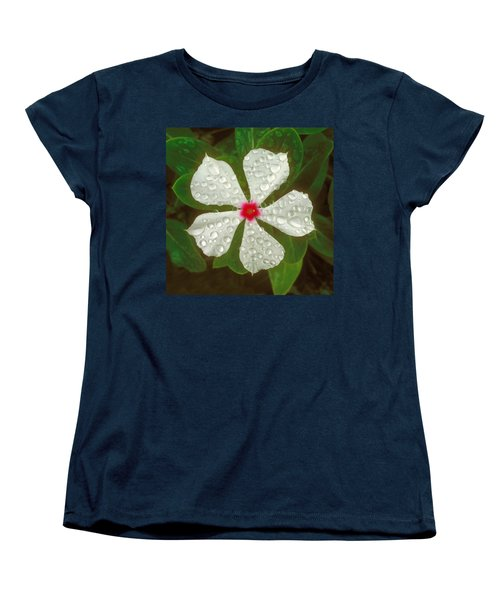 Women's T-Shirt (Standard Cut) featuring the photograph White Periwinkle by Mark Greenberg