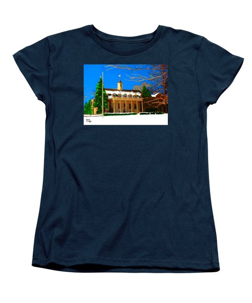 Whittle Hall At Christmas Women's T-Shirt (Standard Cut) by Bruce Nutting