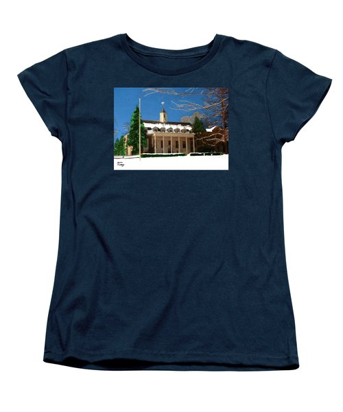 Whittle Hall In The Winter Women's T-Shirt (Standard Cut) by Bruce Nutting